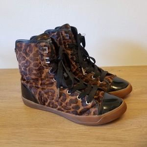 Michael Kors Leopard print hightop sneakers